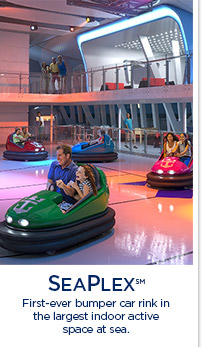 SEAPLEX (SM) - First-ever bumper car rink in the largest indoor active space at sea.
