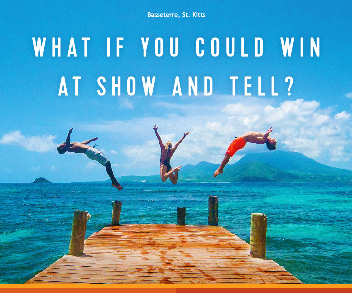 WHAT IF YOU COULD WIN AT SHOW AND TELL?