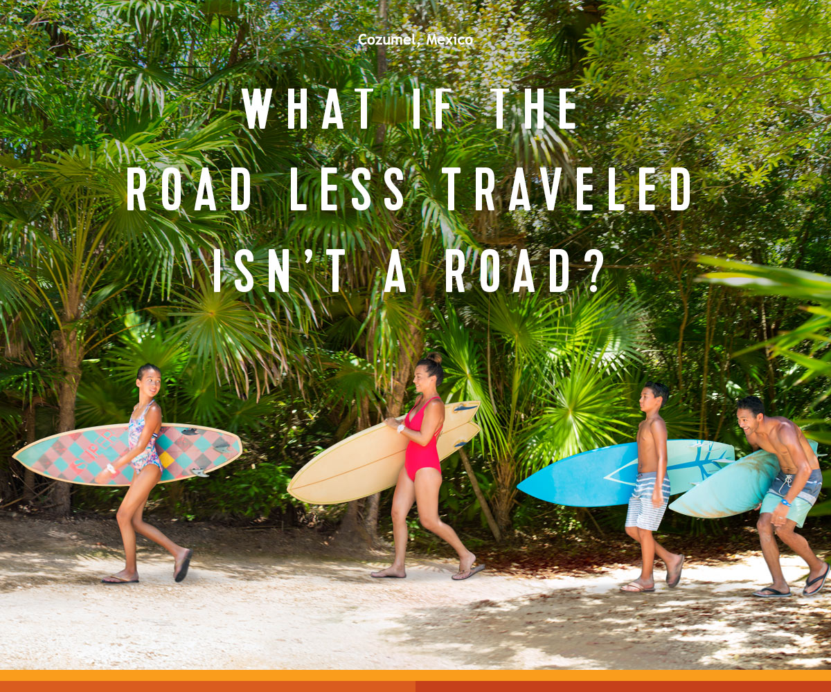 WHAT IF THE ROAD LESS TRAVELED ISN'T A ROAD?