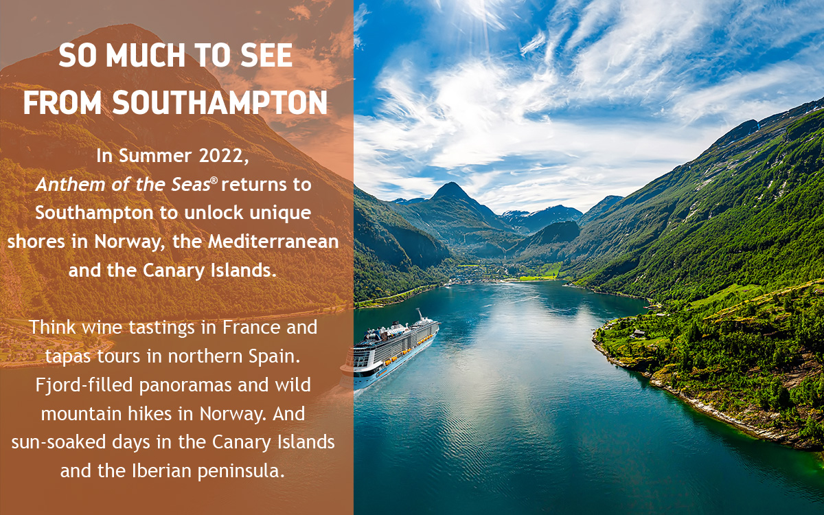 SO MUCH TO SEE FROM SOUTHAMPTON